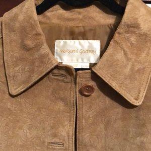 Margaret Godfrey floral embossed leather jacket